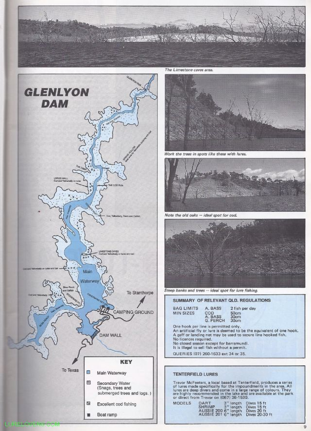 Glenlyon Dam 1989 - LURELOVERS™ Australian Fishing Lure