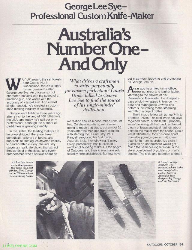 Knife - LURELOVERS™ Australian Fishing Lure Community